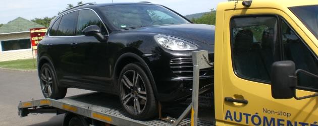 Műszaki hibás járművek szállítása